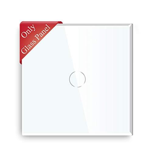 BSEED Interruptor de Luz de Pared táctil Panel de Vidrio Solo 1 Gang Blanco 86 mm * 86 mm