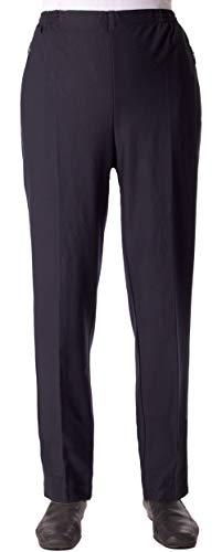 Seniorenmode24 Damen Viskose Seniorenhose Schlupfhose Größe 36/38 bis 56/58 mit Gummizug in Kurzgröße dehnbar ideal für Rollstuhlfahrer einfaches an- und ausziehen (Blau, 42/44)