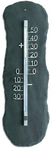 Unbekannt Schiefer Innen-Außenthermometer, Metall