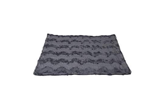 HS-Hundebett Outdoor-Hundedecke in 3 Größen I Qualität Made in Germany - robust & wasserundurchlässig I waschbar bei 40° - mit 3 cm Vlies-Füllung I Reise-Hunde-Decke (85 x 120 cm, Anthrazit)