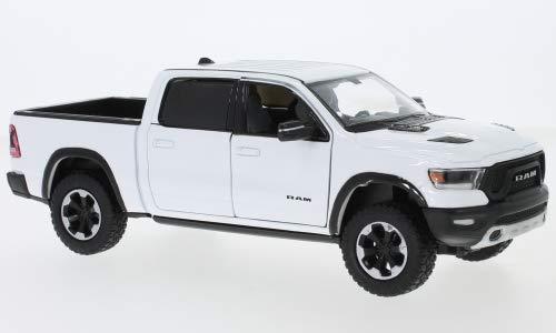 Unbekannt Dodge RAM 1500 Crew Cab Rebel, Weiss, 2019, Modellauto, Fertigmodell, Motormax 1:24