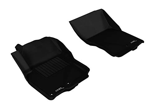 3D MAXpider Front Row Custom Fit All-Weather Floor Mat for Select Nissan Frontier Models - Kagu Rubber (Black)