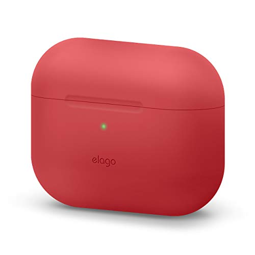 elago Étui Original Compatible avec Apple AirPods Pro, Coque de Protection, Silicone de Haute Qualité [Test d'ajustement] - sans Mousqueton (Rouge)