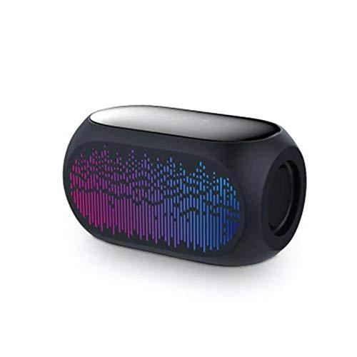 Dinglihuaqu Haut-parleurs Portables pour stéréo et Bas Haute fidélité avec Carte Micro de TF de Soutien AUX HiFi coloré sans Fil Bluetooth Haut-Parleur stéréo 10W Basse Casque Mains Libres