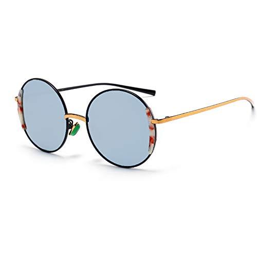 Faus Koco UV400 Silver Ladies Metal Plate Gafas De Sol Polarizadas Trend Colorful Personality Sunglasses Gafas