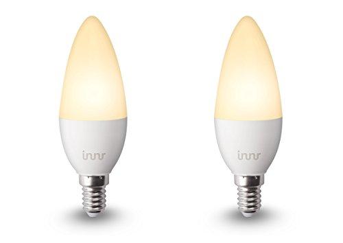 Innr E14 warm weiß, dimmbare Retrofit LED Kerze (Alexa, Lightify & Hue* kompatibel) RB 145-2 (2-Pack)