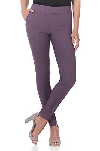 Rekucci Women's Ease into Comfort Modern Stretch Skinny Pant with Tummy Control (12,Mauve)