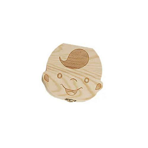 VHNBVHGKGHJ Kreative Baby Zähne Box Saver Aufbewahrungsbox Holz Kinder Zähne Halter Organisieren Box Holz Junge