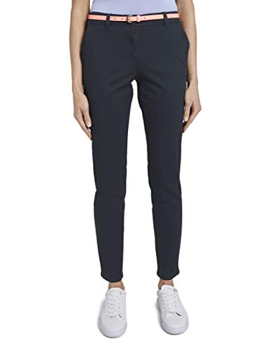 TOM TAILOR Damen Chino Slim Hose, 10668-Sky Captain Blue, 40/32