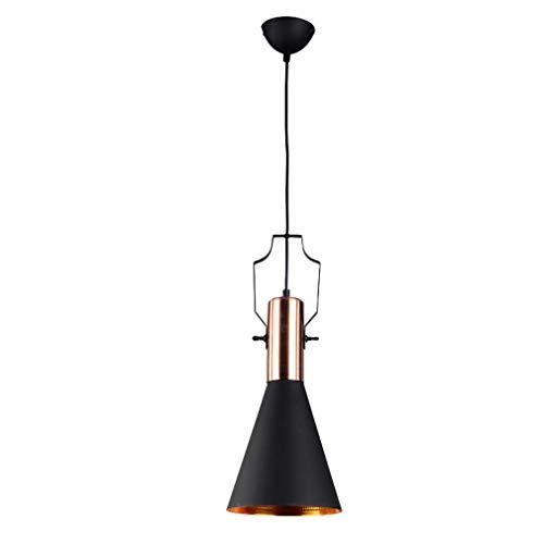 Hai Ying Vintage hanglamp, retro-verlichting, tafellamp van aluminium, zwart van mode, modern, romantisch, in hoogte verstelbaar, bar E27, industriële stijl