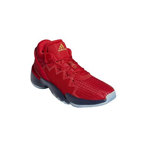 adidas Unisex D.O.N. Issue 2 Basketballschuhe, Escarl/NAVBLU/DORMET, 49 1/3 EU