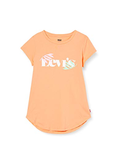 Levi's Kids LVG ROUND HEM GRAPHIC TE SHIRT C765 Camiseta Canteloupe para Niñas