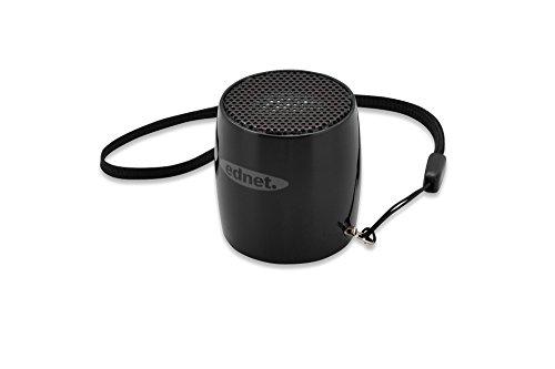 ednet 33020 MiniMax Lautsprecher mit LED/Mikrofon (v3.0 Bluetooth, 3 Watt, 3,5mm Klinke, USB) schwarz