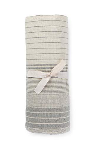 HomeLife - Sofaüberwurf mit Streifen, hergestellt in Italien, Mehrzweck-Überwurf aus Baumwolle, Granfoulard Tagesdecke für Einzelbett [160 x 280], Überwurf für Zuhause, grau, 1 Einzelbett