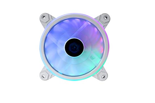 Raidmax NV-T120FWP Addressable RGB PWM LED 120mm Fan with Absorbing Rubber Pads