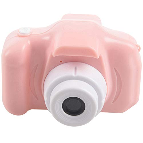 Camisin Cámara digital recargable de 2 pulgadas HD de la pantalla de los niños de dibujos animados lindos juguetes de fotografía al aire libre accesorios para regalo de cumpleaños rosa