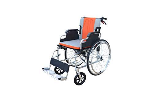 Polironeshop KEROS Carrozzina Pieghevole Sedia a rotelle in Alluminio Leggera autospinta ad
