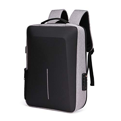 Slim Laptop Backpack USB Charging Backpack for Men Water Resistant College Laptop Backpack Anti Theft Backpack - grey - 11.81x5.11x16.53