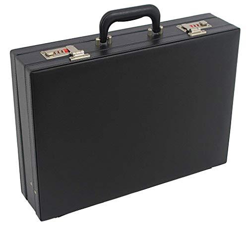 アタッシュケース PVCハードアタッシュケース B4ファイル収納OK マチ調節可能 ダイヤル錠付 [21212] M