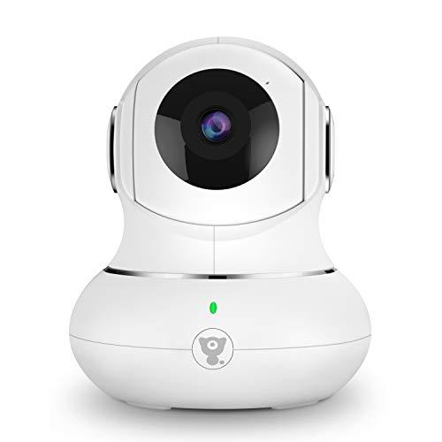 Überwachungskamera Innen, Babyphone, WLAN IP Kamera, 1080P WiFi Kamera mit Nachtsicht, 2-Wege-Audio,Tracking-Erkennung für Haustier/Baby/Ältere, Unterstützt Cloud-Speicher & SD-Karte