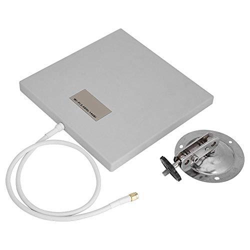 IGOSAIT Panel de Antena direccional 2.4GHz 14 DBI High Gain WiFi Extender Ante de Largo Alcance Mobile Antena de Aluminio Plástico Antena Soporte Soporte Durabilidad