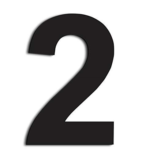 nanly Moderne Hausnummer aus Edelstahl,in Anthrazit RAL 7016,Ziffern & Buchstaben,Höhe:15.3cm/6 Zoll(Ziffer 2)