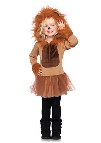 LEG AVENUE C48209 - Cuddly Lion Kinderkostüm Set, Größe M, braun