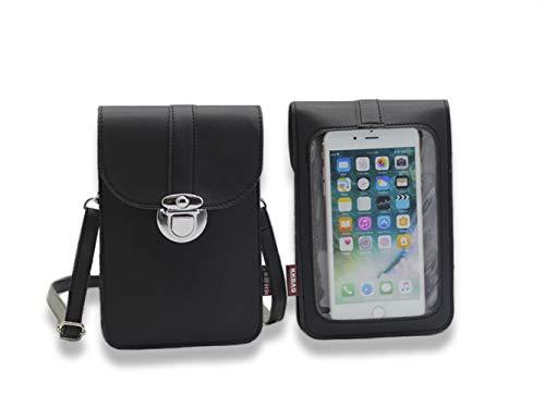 Homi2019 Leicht Lederhandtasche, kleine Umhängetasche Mini-Handytasche Umhängetasche handyhülle case hülle für Apple iPhone Samsung Galaxy und andere Smartphones
