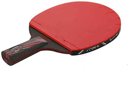 FQYYDD Paleta de Ping Pong Profesional 6 Estrellas Raqueta de Ping Pong Caucho Nano Carbono Mesa de Tenis Bat Blade Sticky Toner Glue Pingpong Training