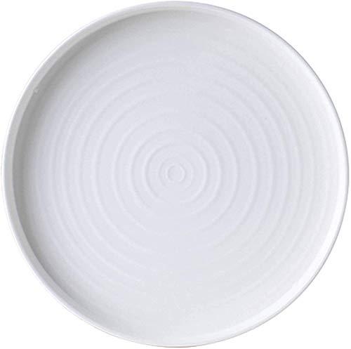 TREEECFCST Platos Vajilla Estilo Europeo de Placas, Ligero Cerámica Durable Platos Bandeja de los Pasteles Filete Placa de Cocina Comedor 21cm Hotel Familiar Blanca