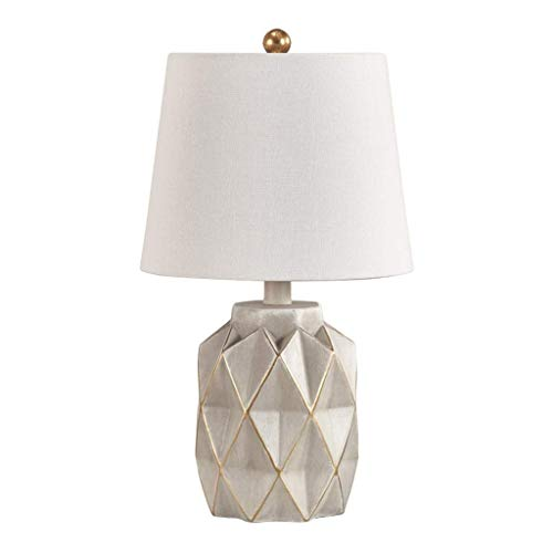 Nachtkastje Nachtkastje Lamp Steen & Balk Industrieel Decor Betonnen tafel Bureaulamp en kap Eenvoudige moderne slaapkamer Bedlamp voor slaapkamer Woonkamer Eetkamer 10 X 10 X 17 inch Bureaulamp