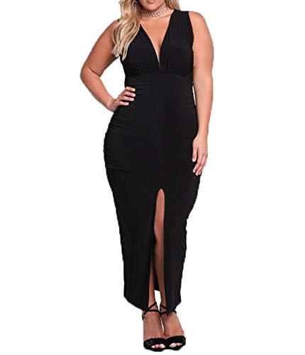 Arbres - Vestido de mujer de fiesta, elegante, talla grande, sexy, cuello...