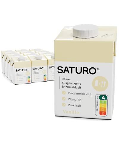 SATURO® Trinkmahlzeit Vanille   Astronautennahrung Mit Protein & 500kcal   Vegane Trinknahrung Mit...