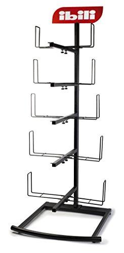 IBILI Paellero de Expositor de Metal, Negro, 30 x 30 x 175 cm