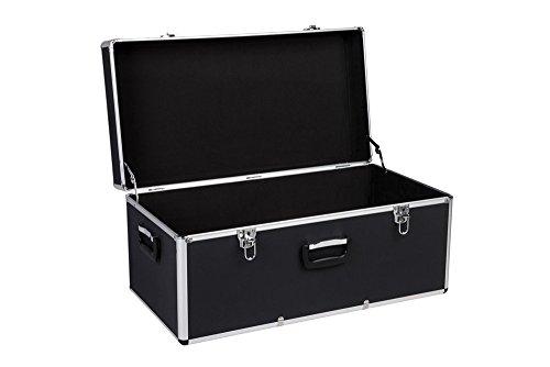 Transportkoffer mit Aluminiumrahmen und schwarzem ABS Korpus - ölbeständig und schlagfest - in verschiedenen Größen (groß)