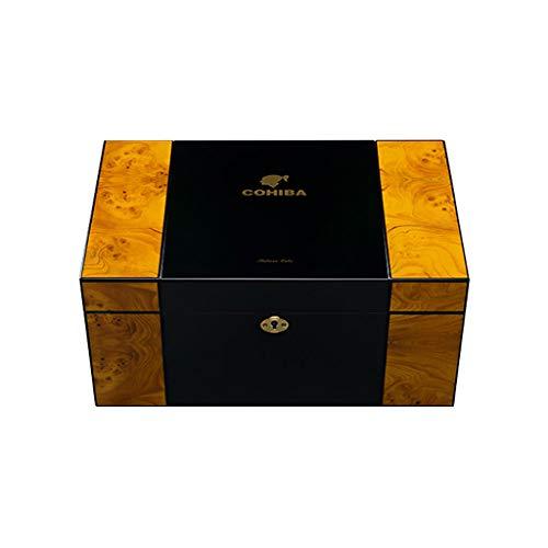 Zeder Holz tragbare Zigarren Humidor konstante Luftfeuchtigkeit befeuchtete Zedern Kubanische Zigarrenkiste Zigarrenkiste Premium (Design : A)