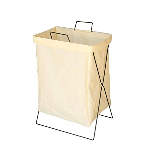 ECSWP Storage Basket Simple Bedroom Home Small Fresh Bedside Dirty Clothes Bag Laundry Bar Dirty Word Basket Folding (Color : C)