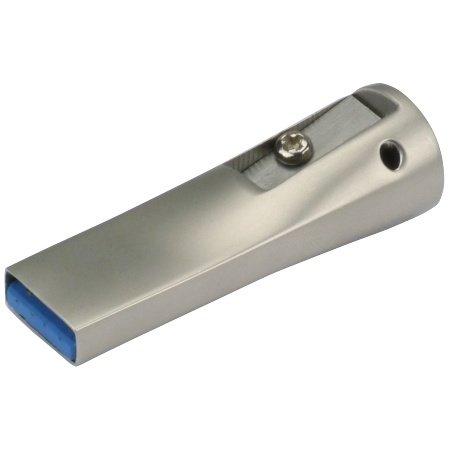 8GB CnMemory Penpal USB-Stick, silber, USB 3.0, mit Bleistiftanspitzer
