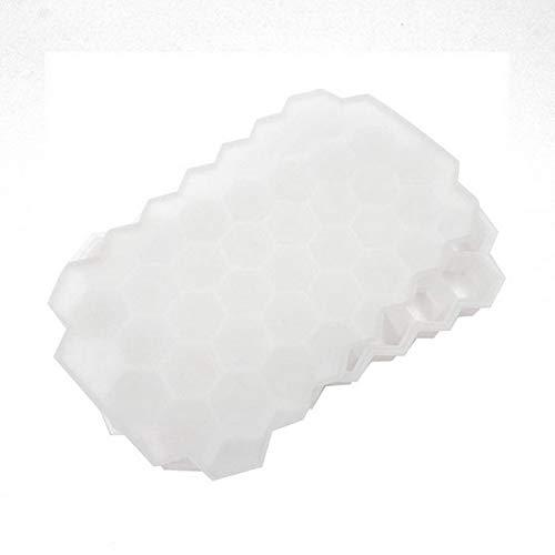QZH 2 Paquete Moldes de Cubitos de Hielo de Silicona con Tapa Bandejas de Hielo Flexibles BPA Gratis, para Whisky, cóctel, moldes de Cubitos de Hielo Flexibles Flexibles apilables,Clear,20 * 12 * 2cm