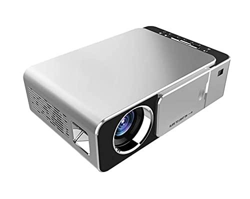 FGDFGDG Proyector de Video de Lumen Proyector DLP 3D Asistencia al Cine en casa 1080p, Compatible con U Disco, Disco Duro móvil, Tarjeta SD, Tres en una Interfaz AV, DVD, VGA o HDMI,Plata