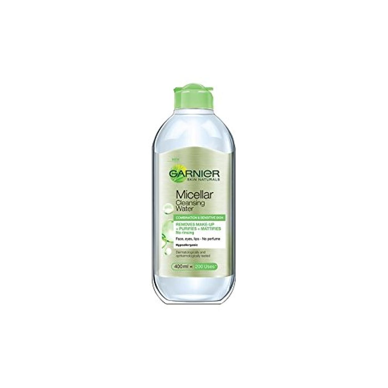 アラブマニュアルタバコ水の組み合わせや敏感肌のクレンジングガルニエ肌ナチュラルミセル(400ミリリットル) x4 - Garnier Skin Naturals Micellar Cleansing Water Combination And Sensitive Skin (400ml) (Pack of 4) [並行輸入品]