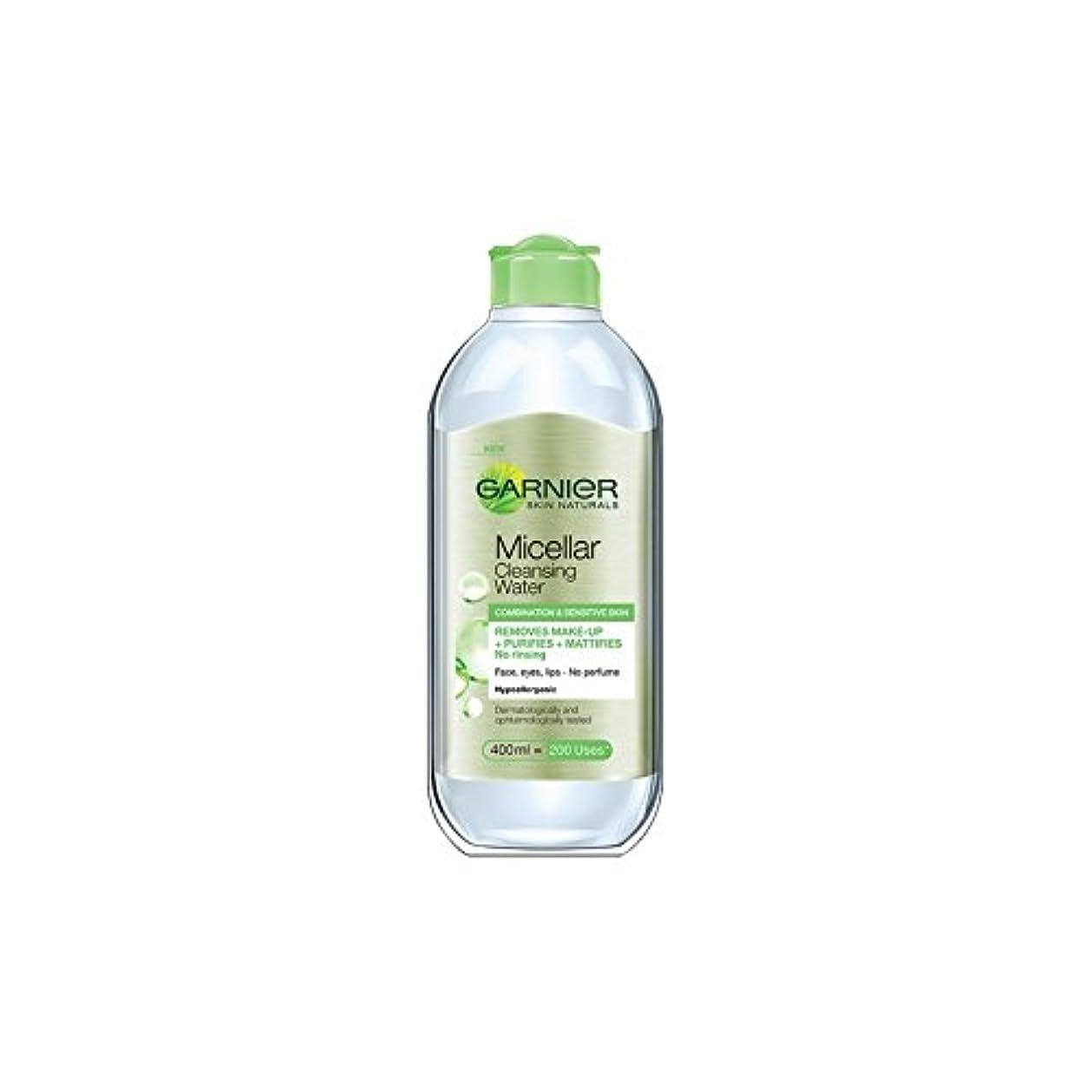 初心者鼻専門用語水の組み合わせや敏感肌のクレンジングガルニエ肌ナチュラルミセル(400ミリリットル) x4 - Garnier Skin Naturals Micellar Cleansing Water Combination And Sensitive Skin (400ml) (Pack of 4) [並行輸入品]