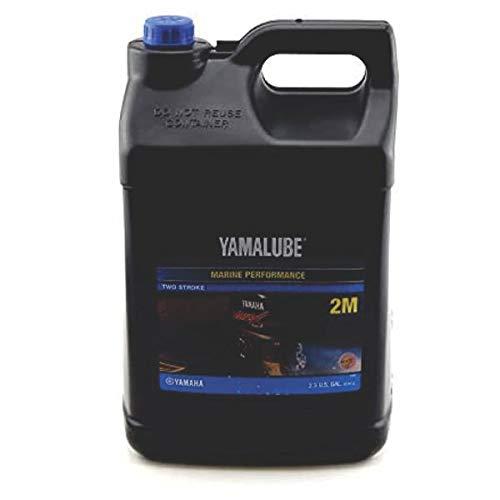 Yamalube LUB-2STRK-M1-02 2M Outboard TC-W3 2-Stroke Engine Oil (2-1/2 GALLON)