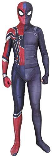 ZLZL Overol para Disfraz de Spiderman de superhéroe con impresión 3D para Adultos y niños
