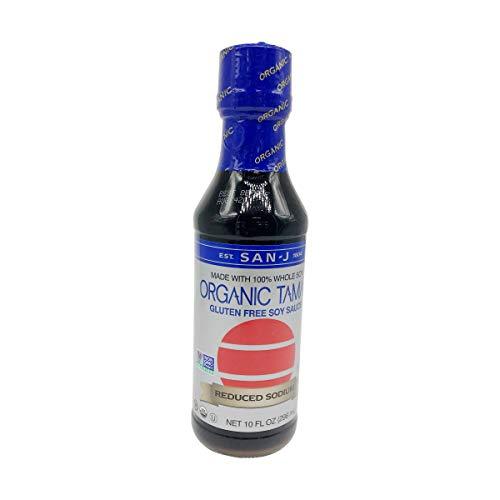 San J International, Sauce Tamari Gluten Free Reduced Sodium Organic, 10 Fl Oz