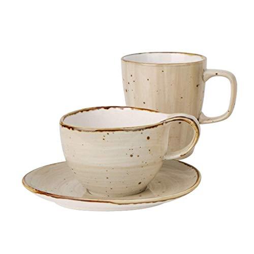 YUNLILI Fashion Ceramic Coffee Cup Set Mug Three Piece Set Creative Modern Design Cup and Saucer Set Home Decoration Turkish Coffee Set (Color : B)