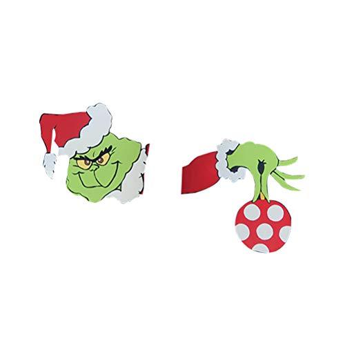 Bonbela Christmas Lawn Decorations Door Tree Hanger Wall Hanger Sign for Outdoor Indoor Xmas Holiday Party Supplies Favors