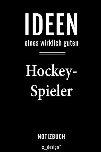 Notizbuch für Hockey-Spieler: Originelle Geschenk-Idee [120 Seiten kariertes blanko Papier]