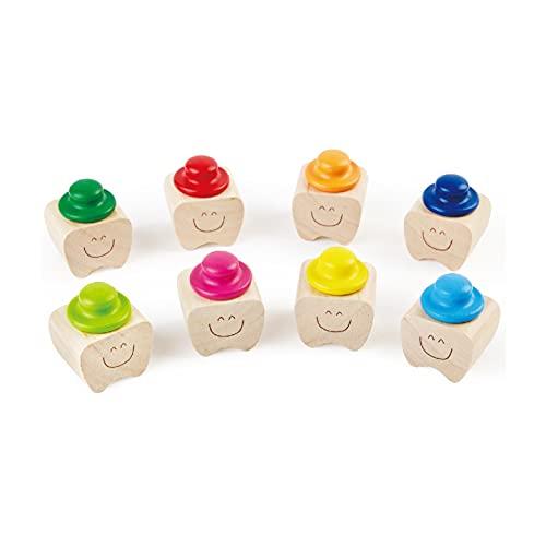 Porta Dentini da Latte, Cofanetto in Legno Levigato e Lucidato per Conservare i Dentini da Latte dei Bimbi (Rosso)