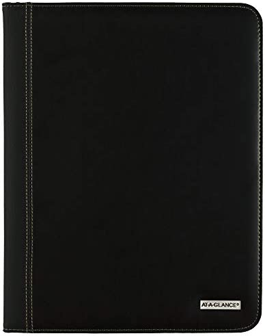 2021 Monthly Padfolio by AT A GLANCE 9 x 11 Large Executive Black 702900521 product image